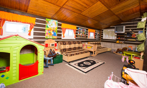 Children's playroom with supervision